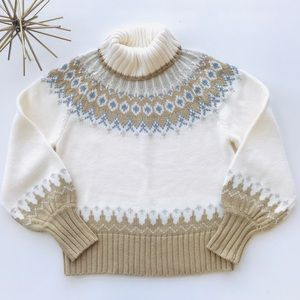 A.N.A. Nordic Beautiful High Neck Sweater Size L